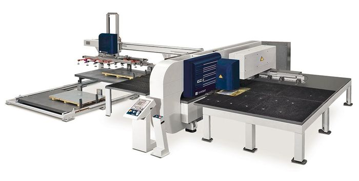 Combined punching and laser cutting machine