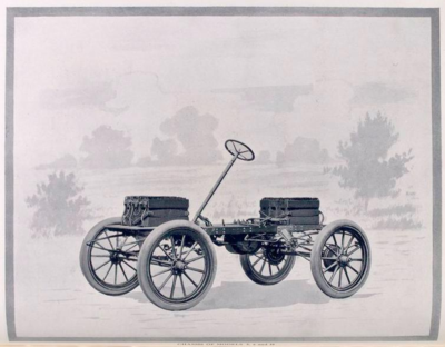 Early electric car chassis