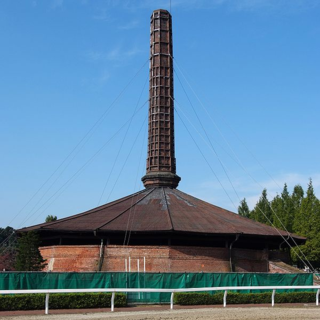 Hoffmann ring kiln belonged to Shimotsuke Brickyard Co.,Ltd., built in 1889, Nogi Town, Tochigi, Japan. Important Cultural Properties of Japan.