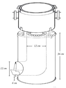 20 litre can rocket stove