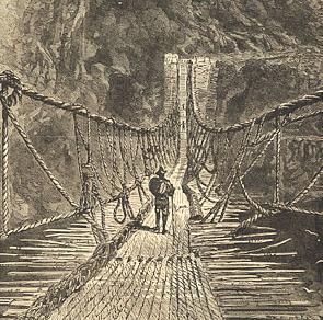 Inka rope bridge
