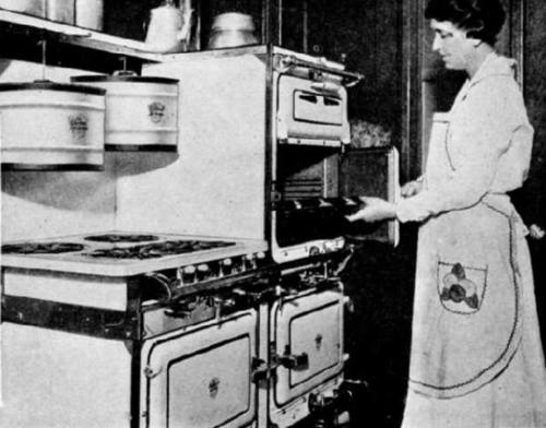Fireless cooking gas range