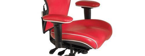 Heated desk chair