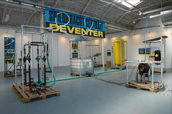 De spierkrachtcentrale in Deventer, Nederland, juli en augustus 2017.