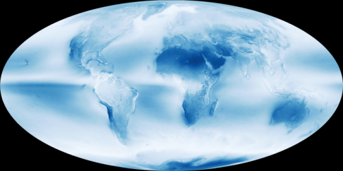 Wolkendek op aarde