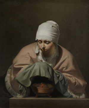 Young_woman_warming_her_hands._Caesar_van_Everdingen