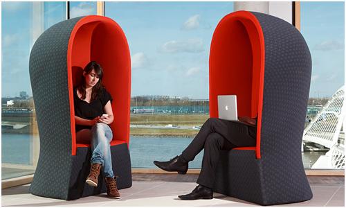Modern hooded chair