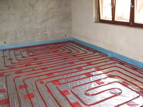 Underfloor radiant heating