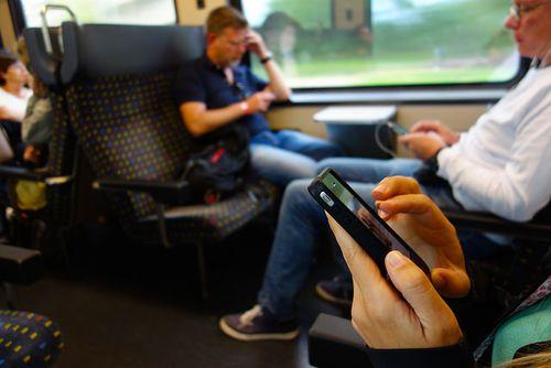 Smartphones op de trein