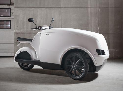 Tripl elektrische motorfiets