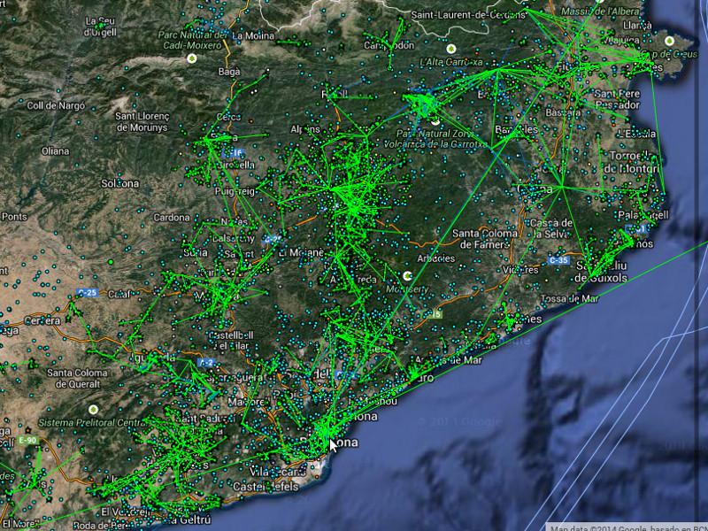 Guifi in en rond barcelona