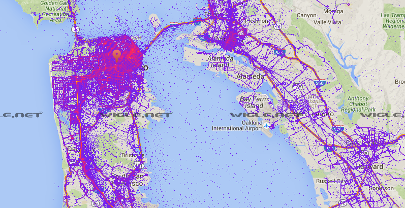 Wifi routers in and around san francisco