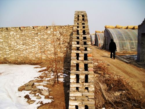 Ruined chinese greenhouse