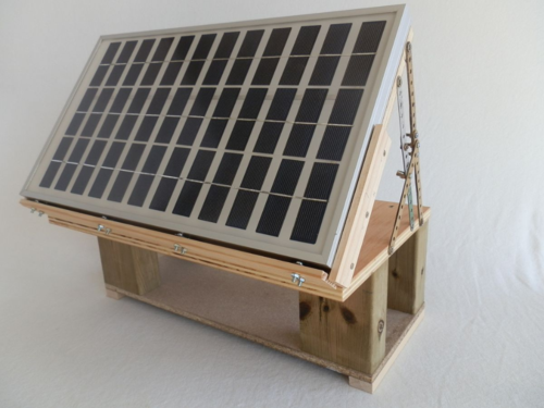 Window sill solar panel