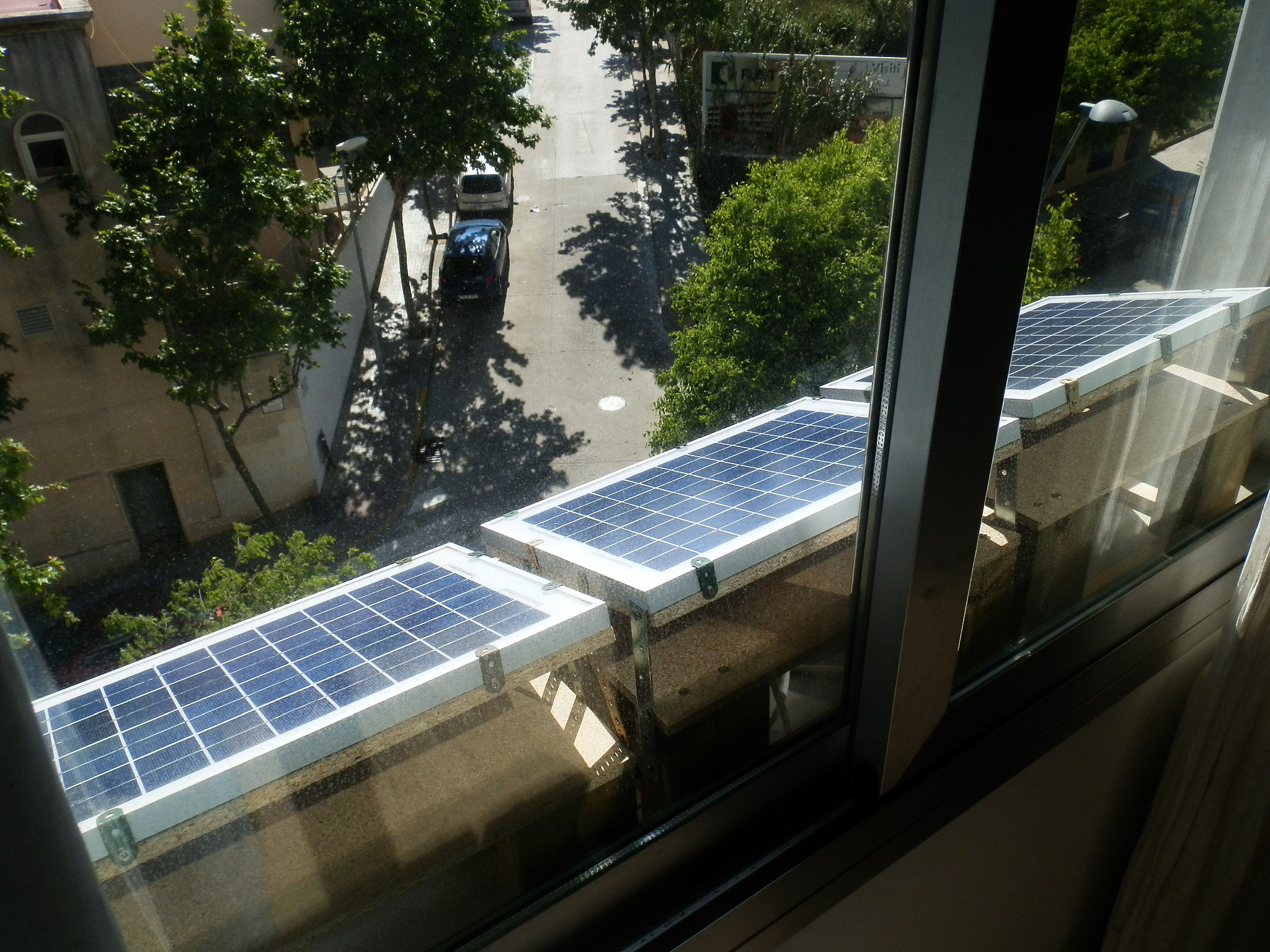 How to get your apartment off the grid low tech magazine three 10w solar panels on the window sill of the bedroom solutioingenieria Choice Image