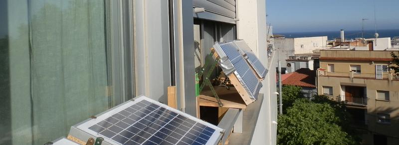Solar panels on window sills 3