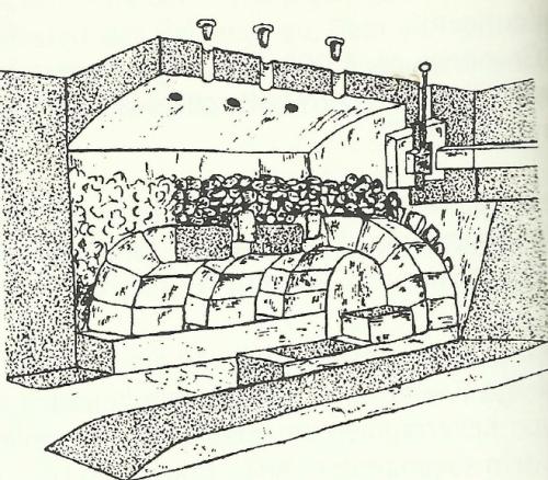 Heat storage hypocaust in erfurt
