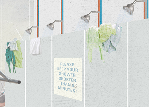 Please keep your shower shorter than 3 minutes