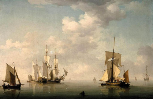 Charles_Brooking_-_Shipping_in_a_Calm_-_WGA3301
