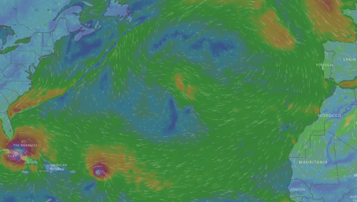Trade winds westerlies and hurricanes