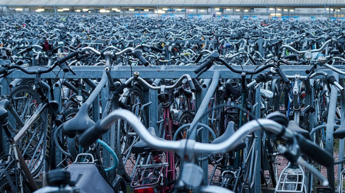 Bicycle parking space in Ghent belgium