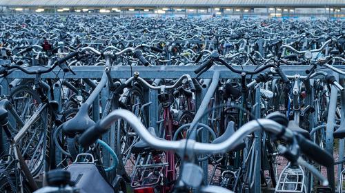 Bicycle parking space in Ghent belgium