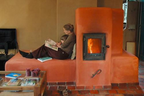 Modern tile stove