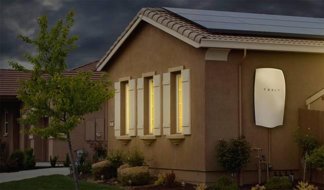 Solarcity reclame voor tesla batterij