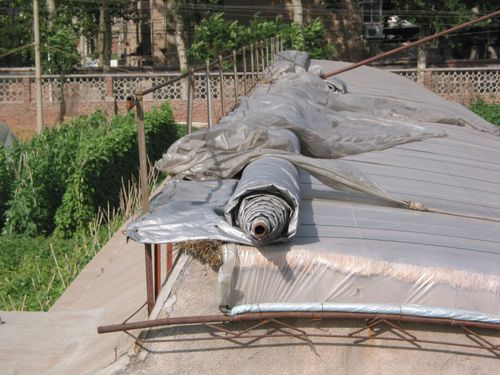 Synthetic cover of chinese greenhouse