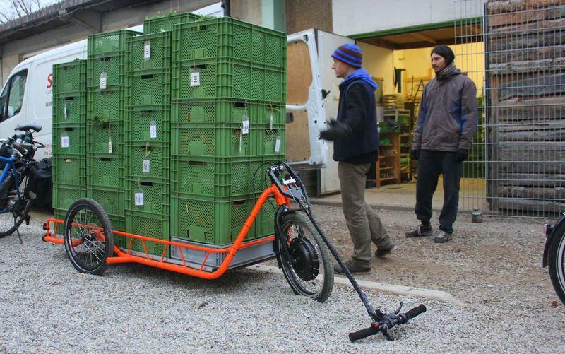 Carla cargo fietstrailer met elektrische hulpmotor
