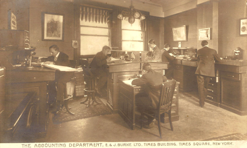 1907 accounting department