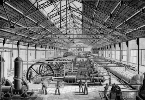 1889 powerhouse compressed air paris