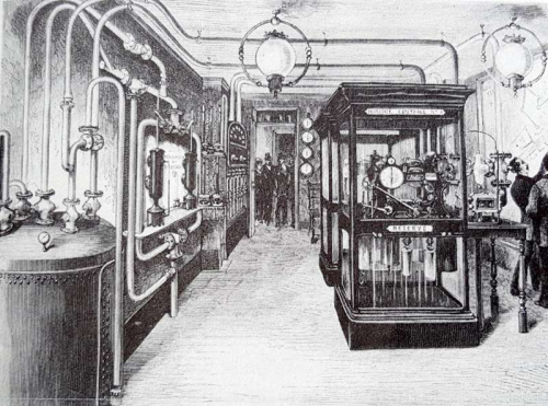 Distribution room for pneumatic clock network