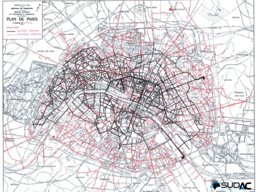 Paris compressed air network 1962