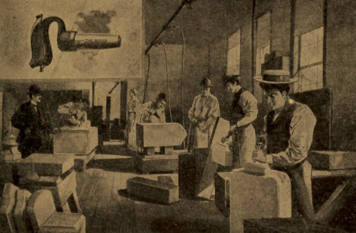 Hiscox pneumatic hammer in stone dressing