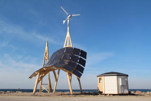Zon-en-wind-energieproductie